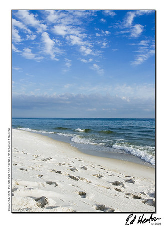 The beach in Ft. Walton Beach, Florida. (2006)