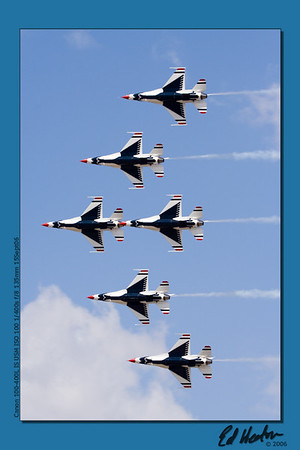 USAF Thunderbirds in formation (Reno Air Show, 2006?)